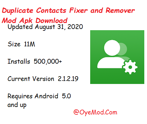 Duplicate Contacts Fixer and Remover Mod Apk Download